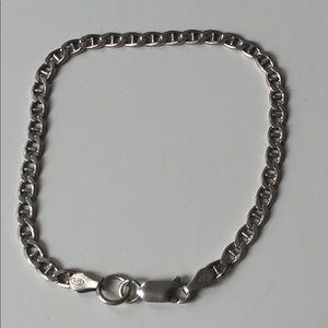 """Jewelry - Sterling Silver Bracelet 7"""" Long Fantastic Shape"""